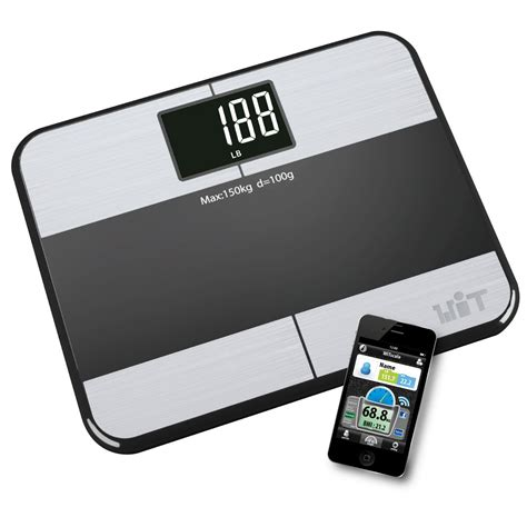 large display digital bathroom scales witscale s220 body fat bluetooth smart high precision