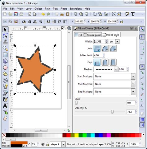 inkscape tutorial fill and stroke how to edit vector drawing objects in inkscape technical