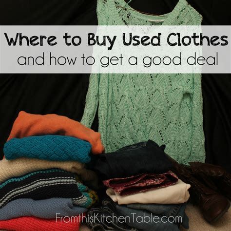 where to buy used clothes and how to get a deal