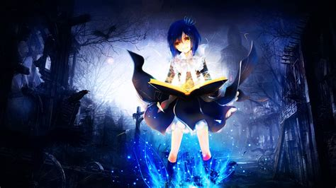 anime magic anime girl with magic wallpaper 821742