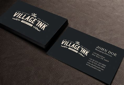 tattoo visiting card design masculine upmarket business card design for jonny