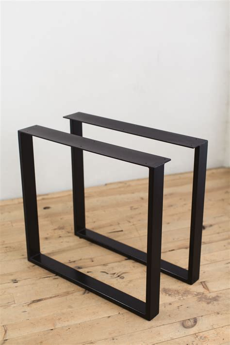 metal legs for a desk powder coated steel u shape table legs factor fabrication