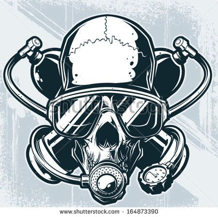 dive gratis dive helmet with skull search tattoos