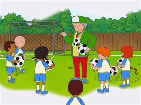 caillou butterfly surprisesoccer troubleyoure