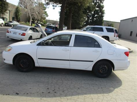 2003 toyota corolla parts 2003 toyota corolla ce white 1 8l at z16179 rancho