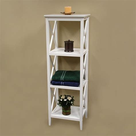 Bathroom Towel Storage Shelves X Frame Bathroom Towel Tower Modern Bathroom Cabinets And Shelves By Wayfair
