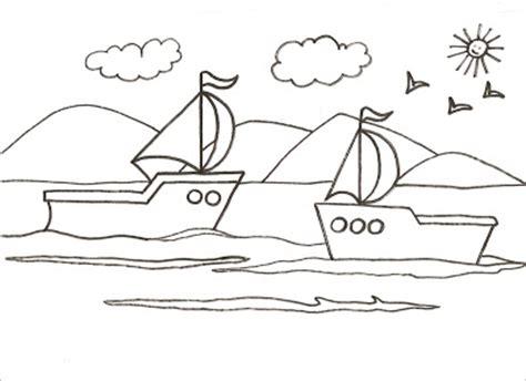 un barco en alta mar letra dibujos para pintar y colorear de barcos dos barquitos