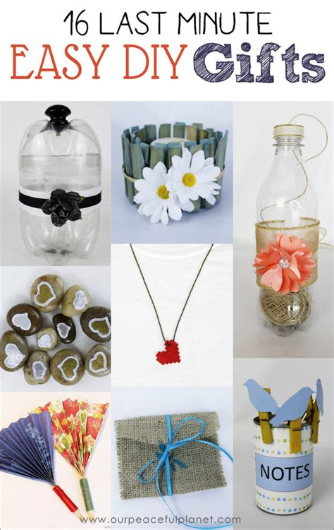 Useful Handmade Gifts - 16 last minute easy diy gifts