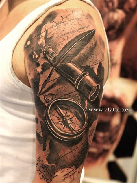 tattoo compass 3d 3d tattoos for men ideas and inspiration for guys