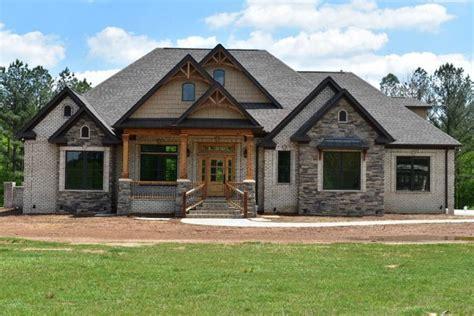 rustic stone  brick house