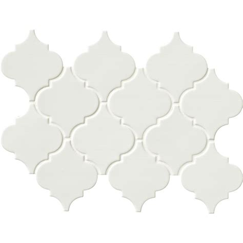 Kitchen Backsplash Materials ms international whisper white arabesque 10 1 2 in x 15 1