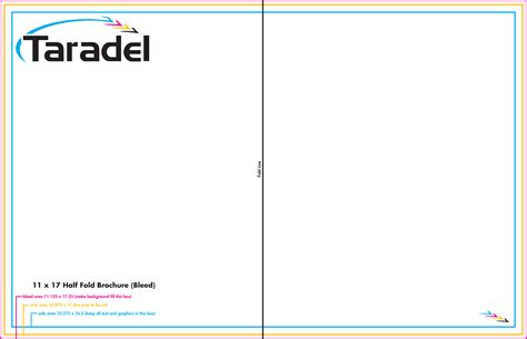 4 X 5 5 Folded Card Template by Taradel Brochures Templates