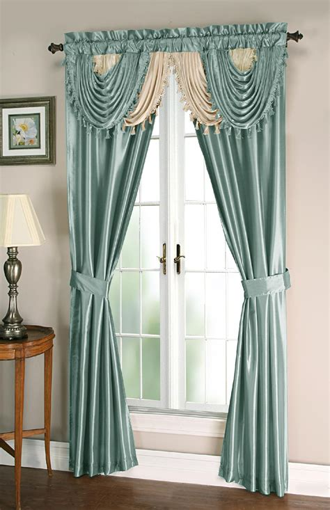 Amore 54x84 Window Set With Attached Valance Kmartcom | essential home amore 54x84 window set with attached