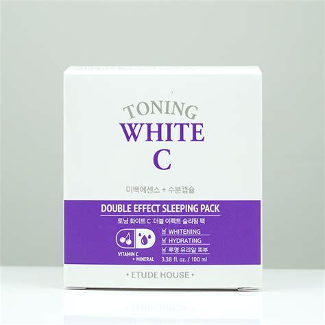 Etude House Toning White C Effect Sleeping Pack etude house toning white c effect sleeping pack review