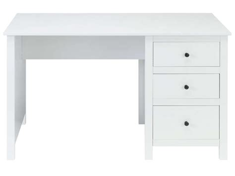 bureau 120cm bureau 120 cm lou coloris blanc vente de bureau conforama