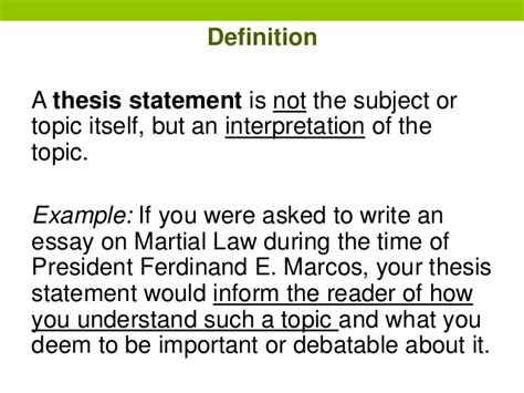 build a thesis statement writing thesis statements