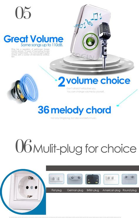 Bel Pintu Wireless 36 Suara Up To 200m Door Bell Murah Jual Wireless Door Bell Premium 36 Suara Up To 200m