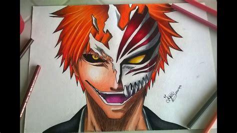 imagenes de bleach jpg speed drawing kurosaki ichigo hollow mask bleach