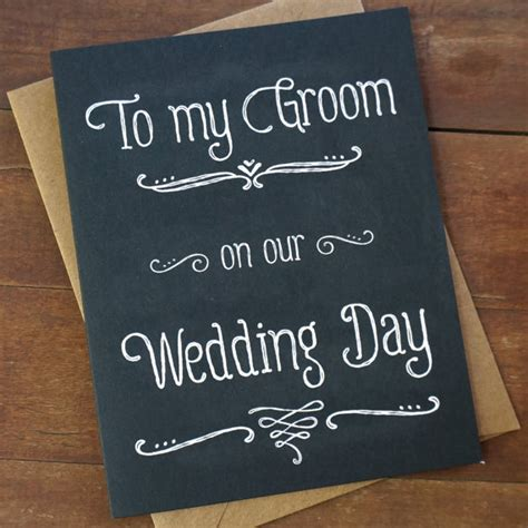 what to gift my on day groom gift from to groom card to my groom on our wedding