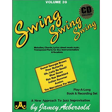 swing books jamey aebersold volume 39 swing swing swing book and