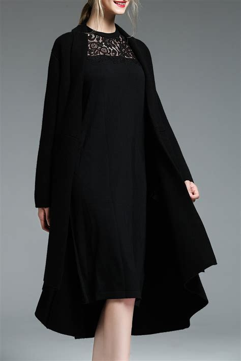 plus size wool swing coat gffaevear black asymmetric wool blend swing coat coats