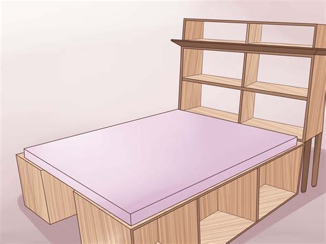 ways  build  wooden bed frame wikihow