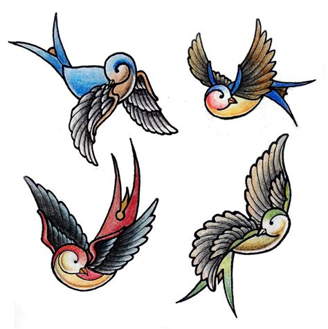 tattoo swallow designs swallows design by gabchik on deviantart