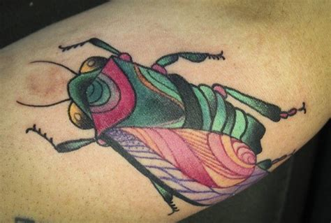 vivid tattoo colors bug on arm tattooimages biz