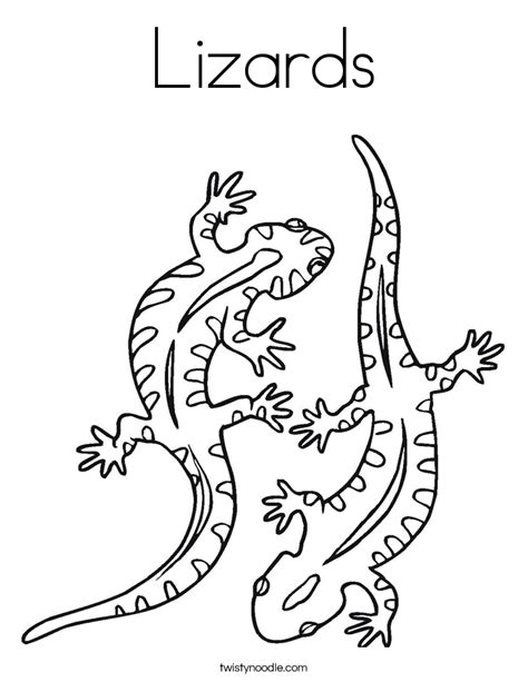 Lizards Coloring Page Twisty Noodle Lizard Coloring Page