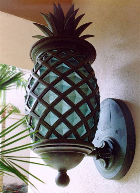 Pineapple Outdoor Light Fixtures Outdoor Pineapple Lights Mariana Lighting 610223 3 Light Pineapple Outdoor Pendant Atg Stores