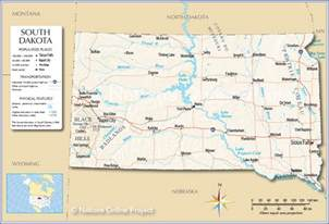 reference map of south dakota usa nations project
