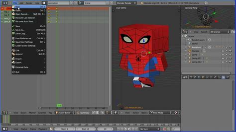 edit video with blender tutorial blender tutorial creating and editing actions for re use
