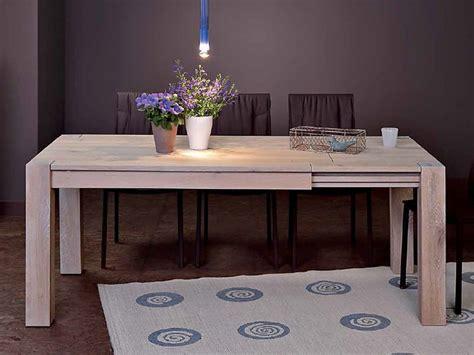tavolo in rovere sbiancato vr60 tavolo allungabile in legno diverse misure e