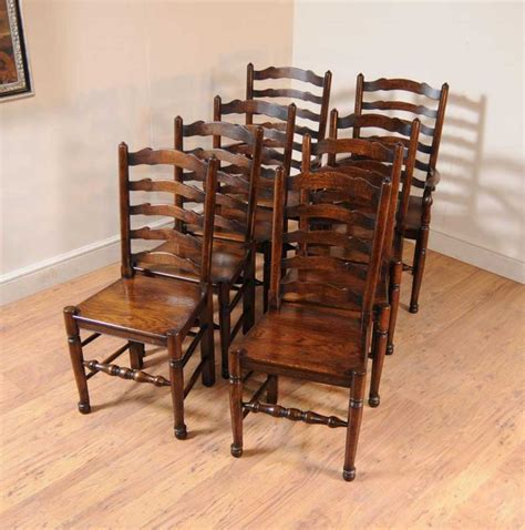 oak armchair set 8 oak ladderback chairs kitchen dining chair farmhouse