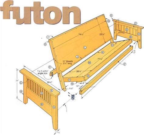 build futon frame wood build wood futon pdf plans