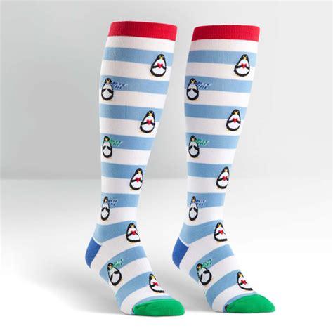 Animal High Knee Sock Penguin penguin socks penguin stripe socks knee high socks