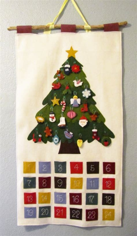 christmas tree felt advent calendar