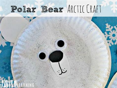 Polar Paper Plate Craft - easy polar arctic craft paper plate for