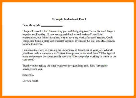 how to write a business email template professional email exle template