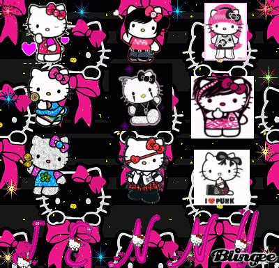 hello kitty punk rock wallpaper punk emo hello kitty picture 114601141 blingee com