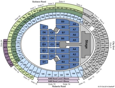 subiaco oval seating map domain stadium tickets in subiaco western australia