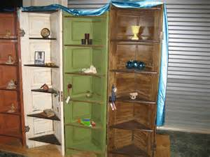 Furniture Made From Old Doors Corner Shelves From Old Doors Recycled Ideas Recyclart