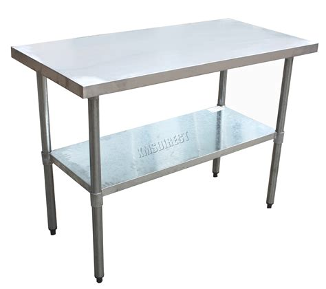 kitchen work bench table foxhunter stainless steel commercial catering table work