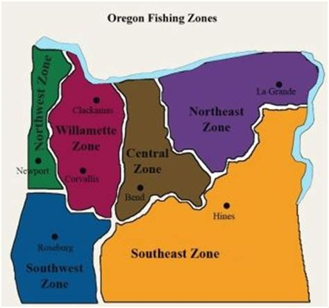 map of oregon time zones trout schedules available on odfw s website