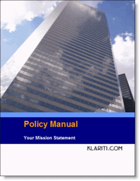 new policy manual template