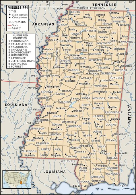 Mississippi Road Map Printable