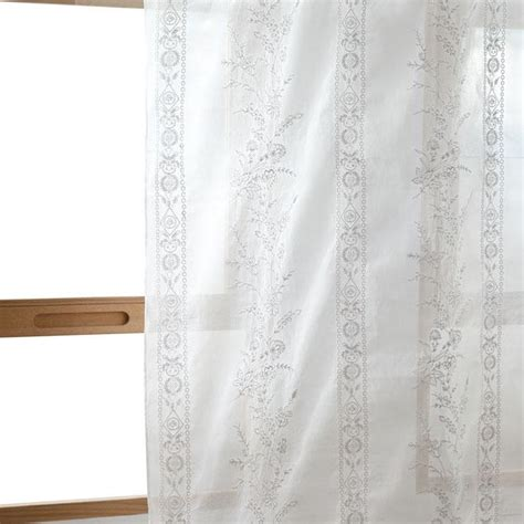 organza curtain white embroidered organza curtain