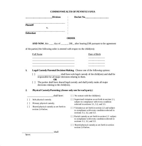 11 child support agreement resume reference