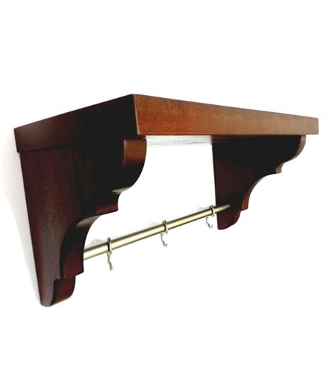 Kitchen Bar Hooks Kitchen Mahogany Rack With Bar And Hooks Mancini