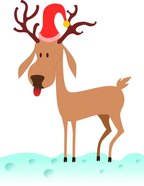 a cartoon reindeer clip art at clker com vector clip art